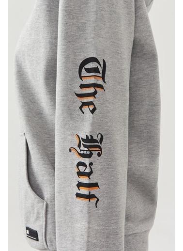 Avva Erkek  Kapüşonlu Sweatshirt A02Y1092 Gri